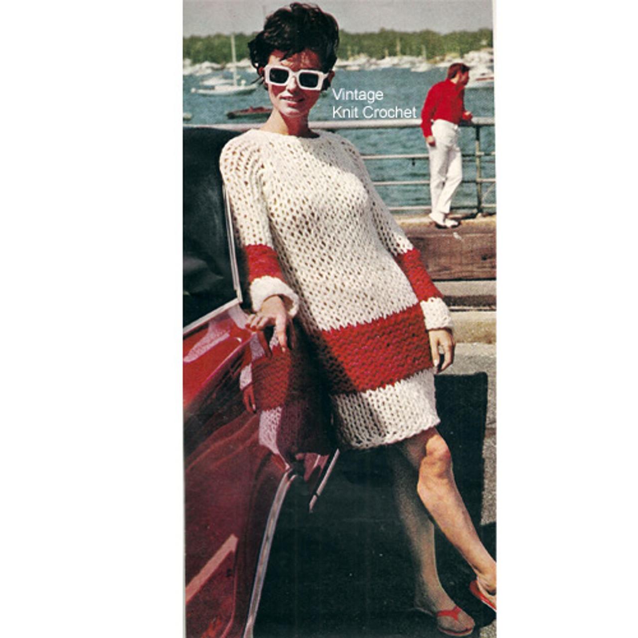 Knitted Big Needle Dress Pattern