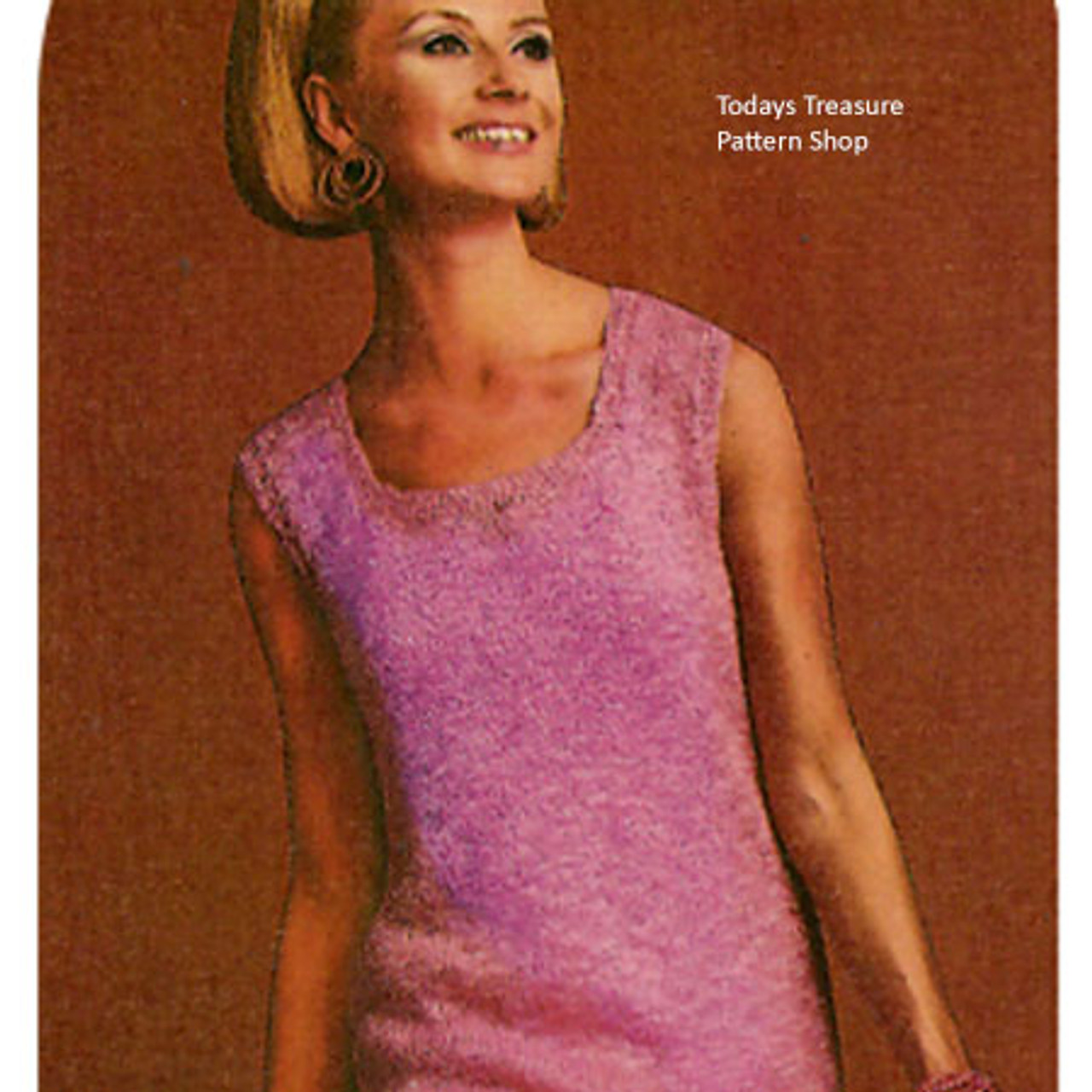 Knitted Sleeveless Dress with Fringe