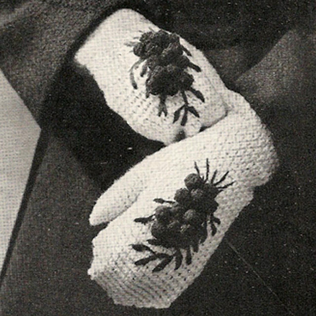 Cherry Mittens Vintage Crochet pattern