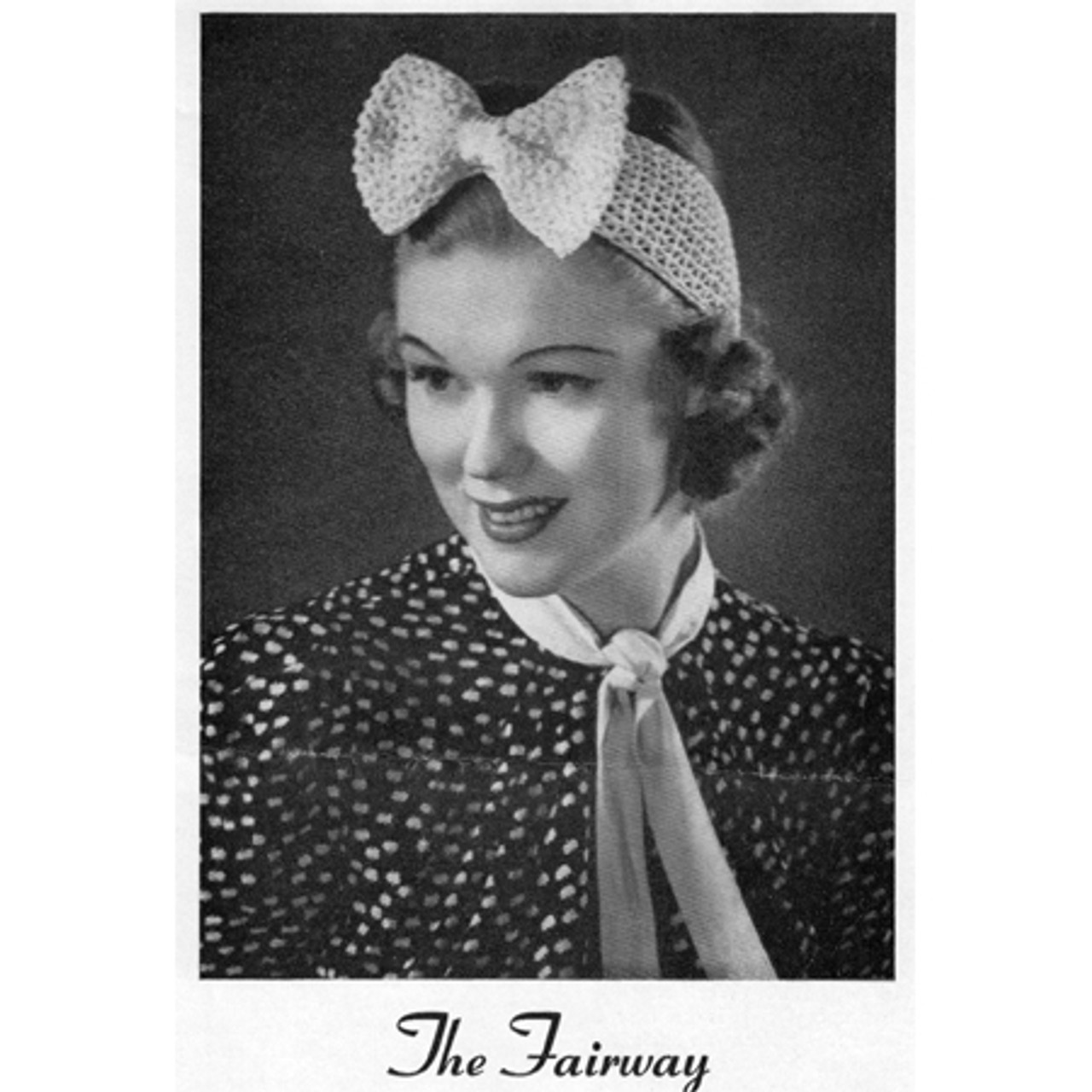 Free Vintage Crochet Headband Pattern with Large Bow