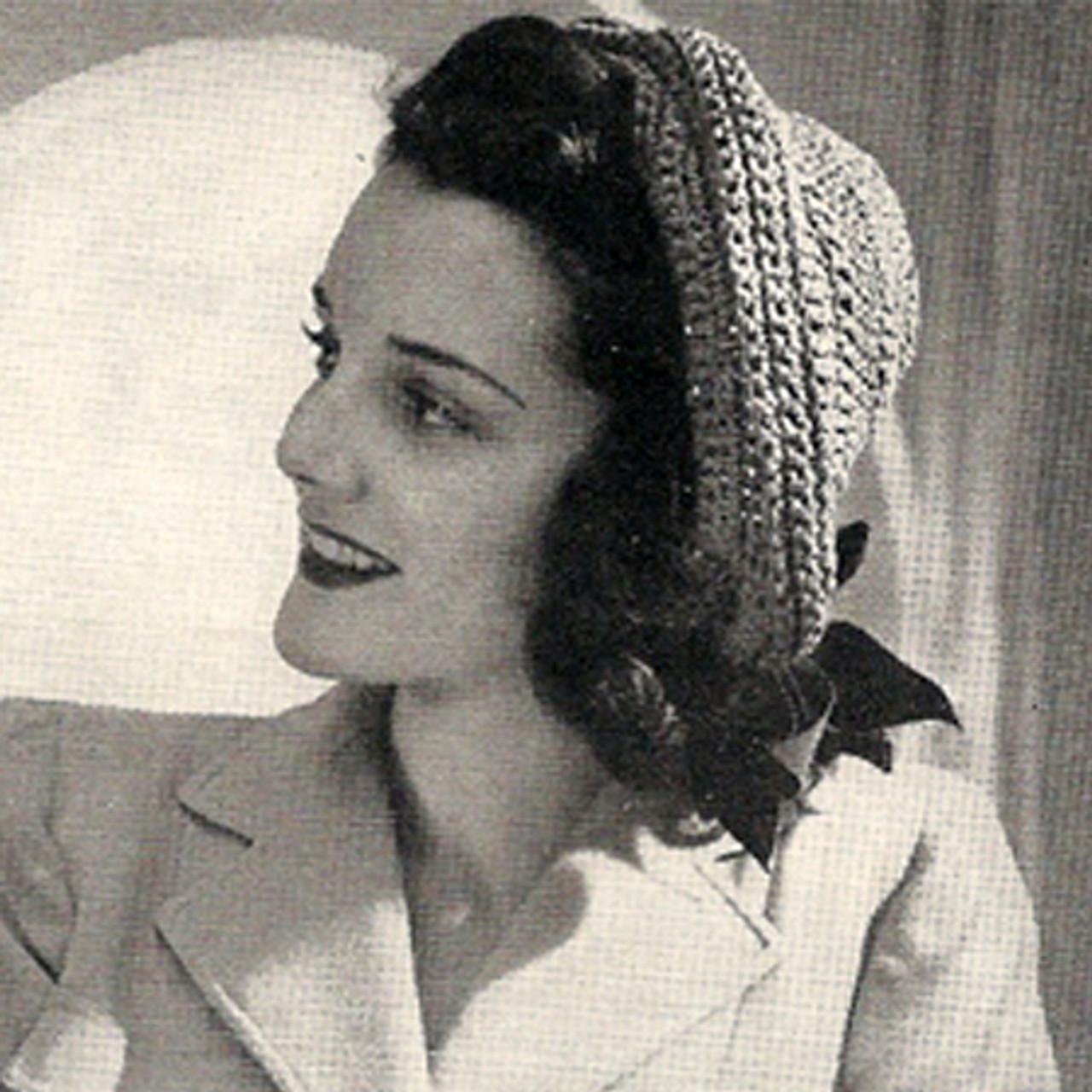 Vintage Roll Back Pompadour Hat Pattern