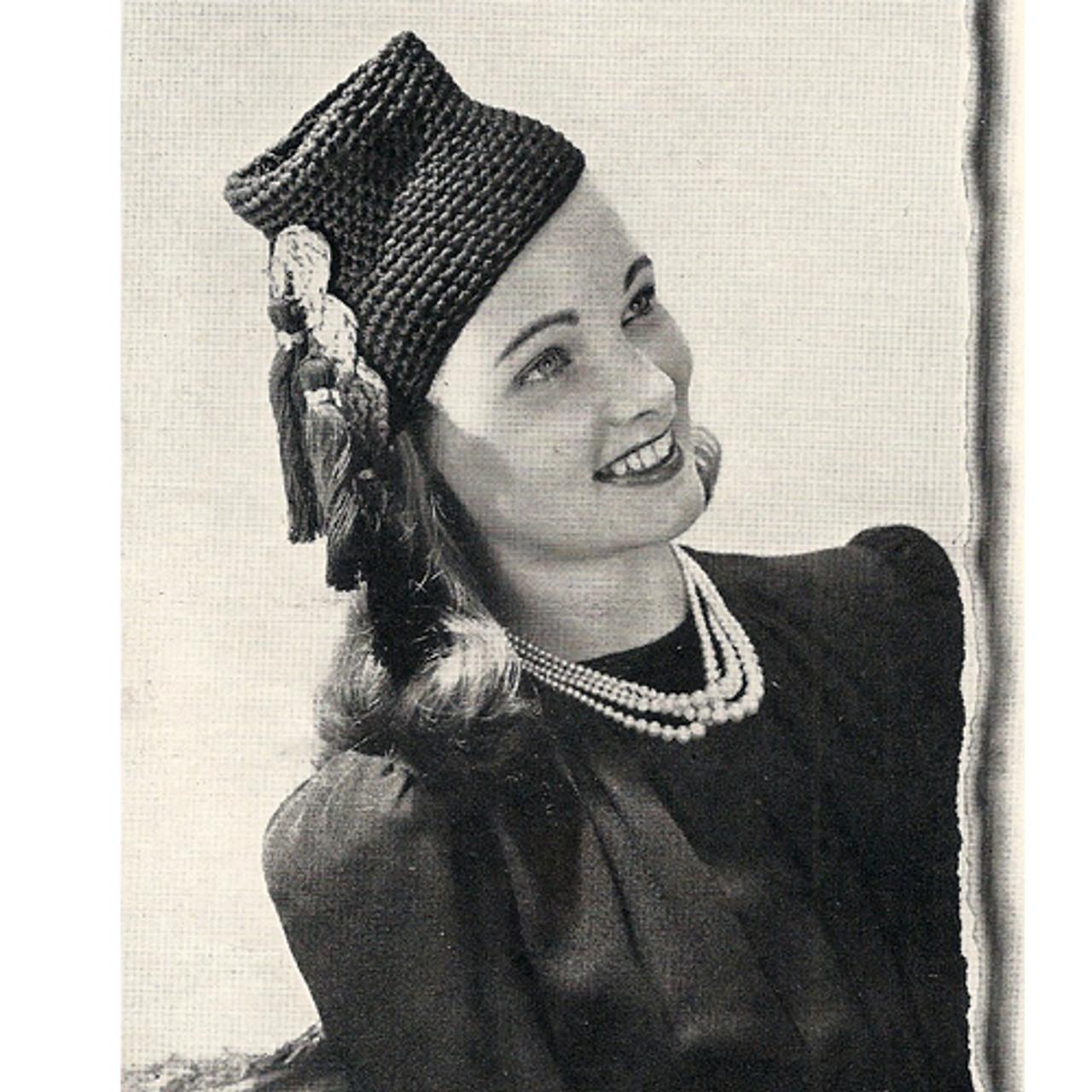 Crochet Tasseled High Hat Pattern