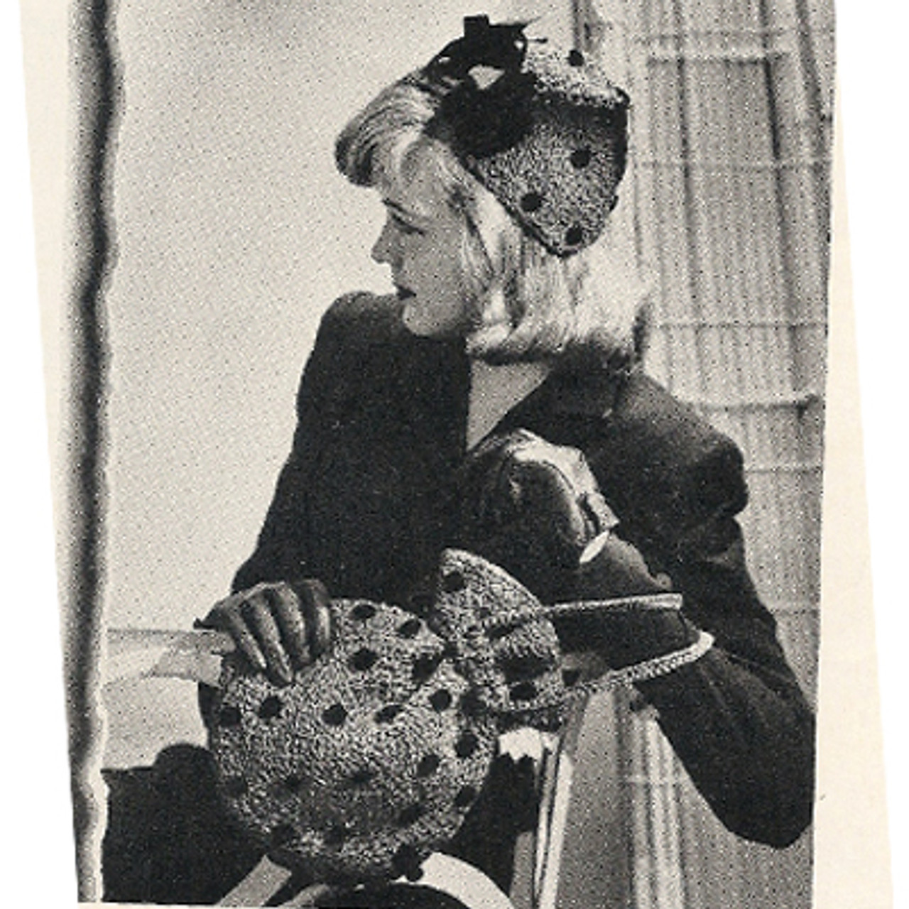 Vintage Crochet Polka Dot Hat Pattern