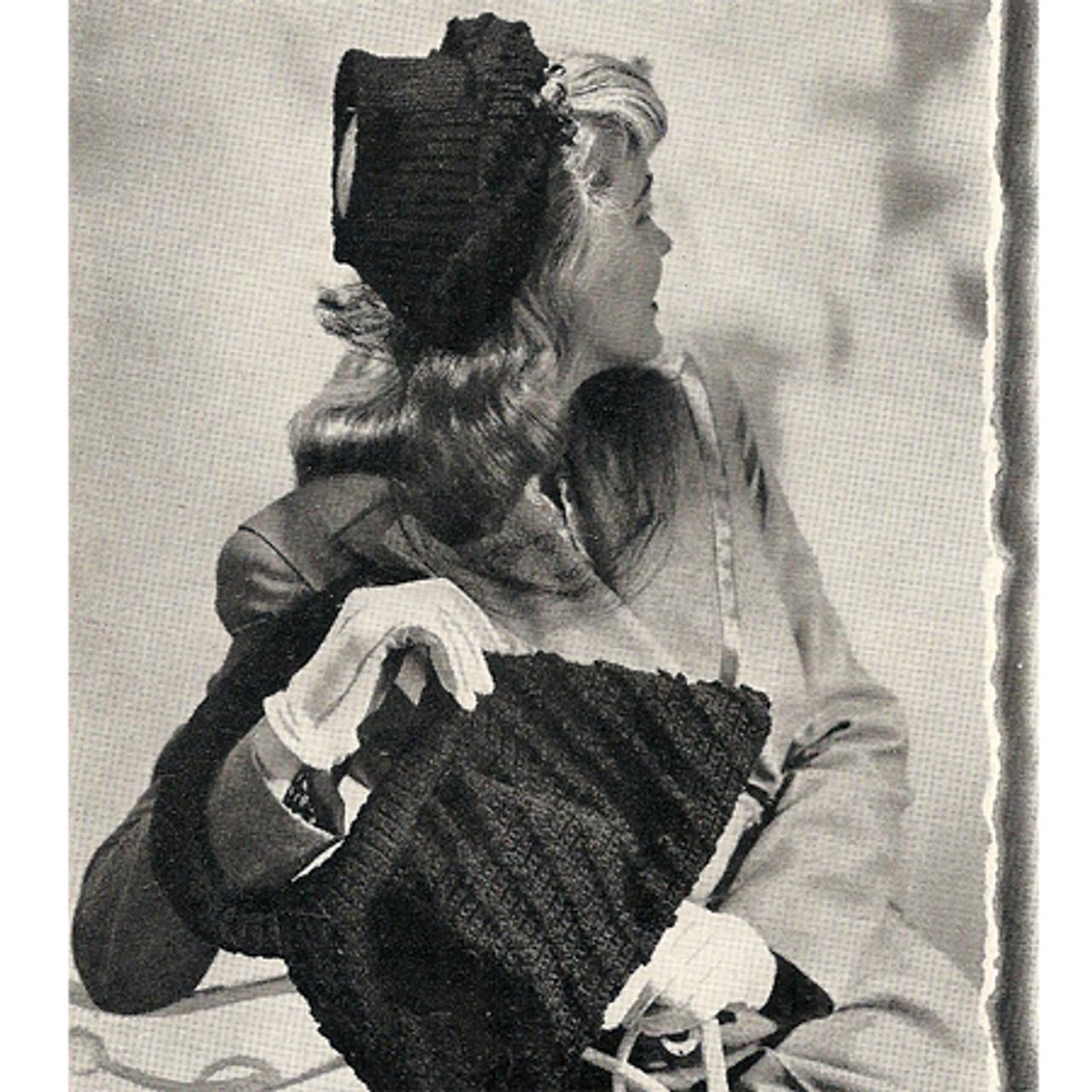 Crochet Hat Pattern with Open Crochet and Handbag