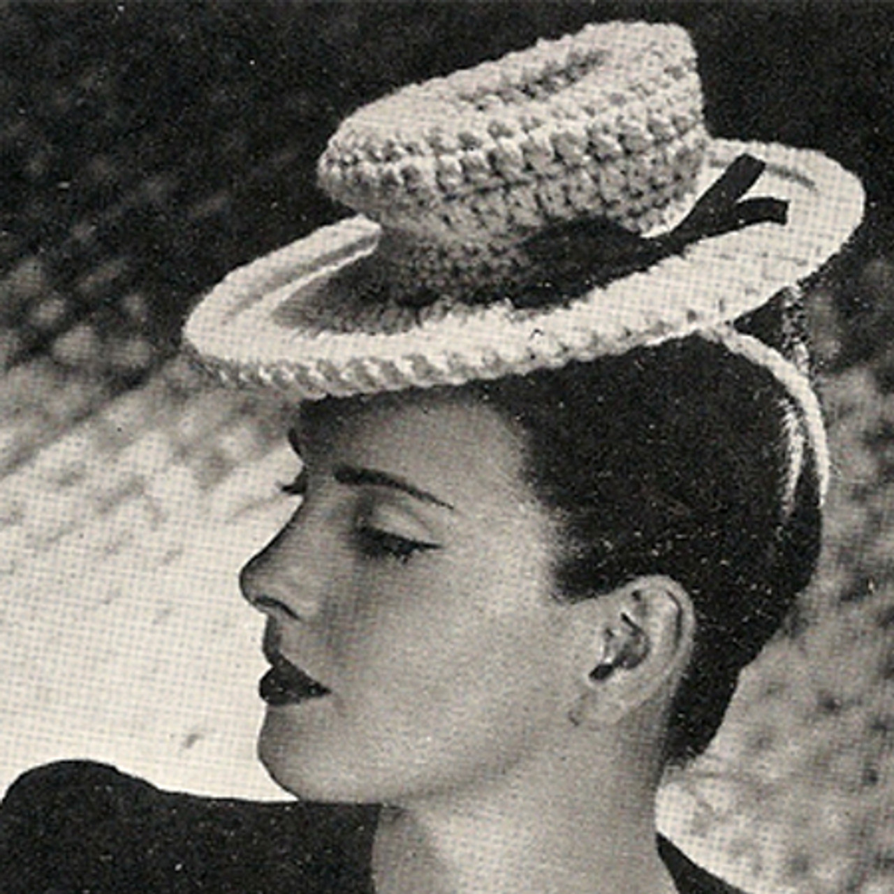Vintage Crocheted Small Sailor Hat Pattern