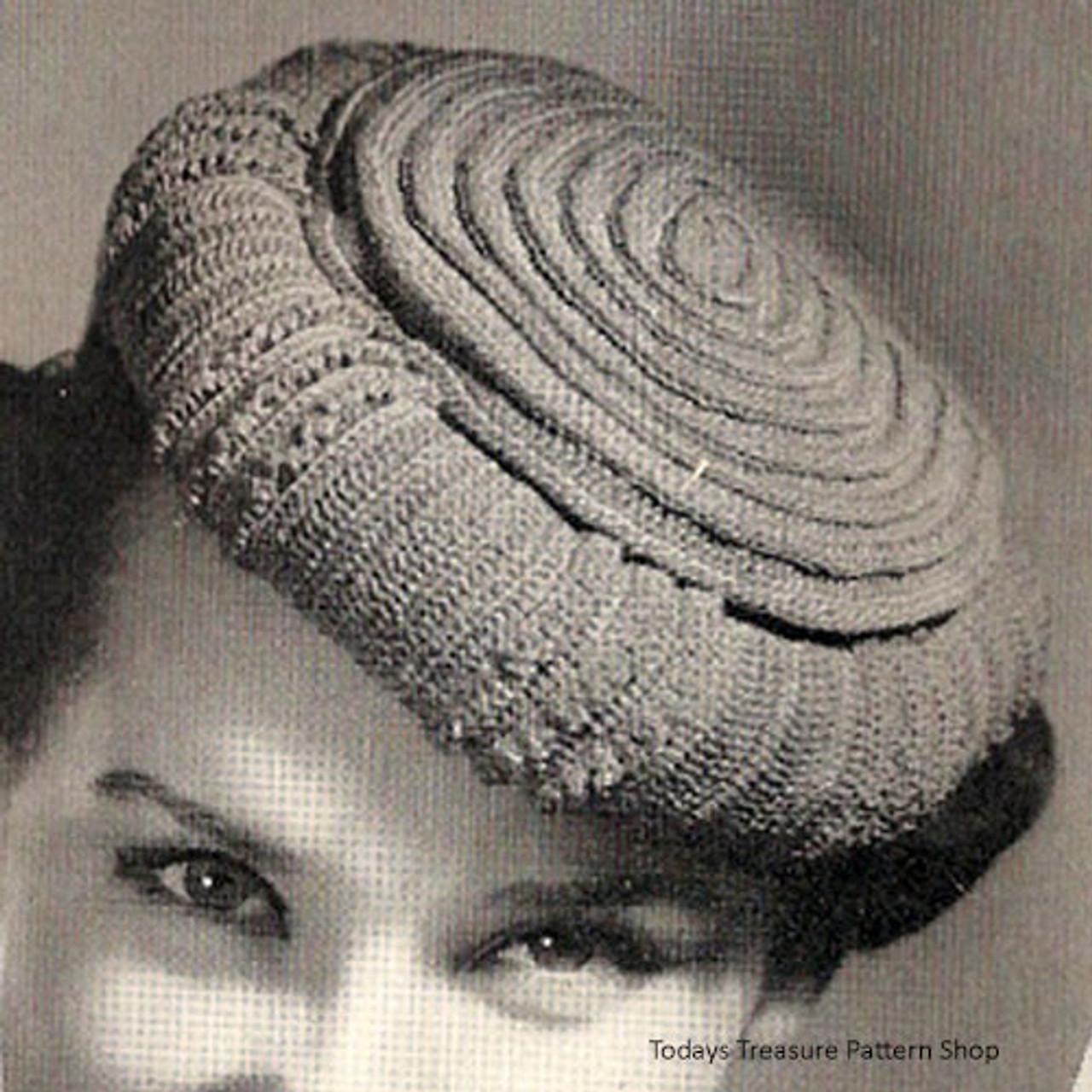 Rolled Pillbox Crochet Pattern
