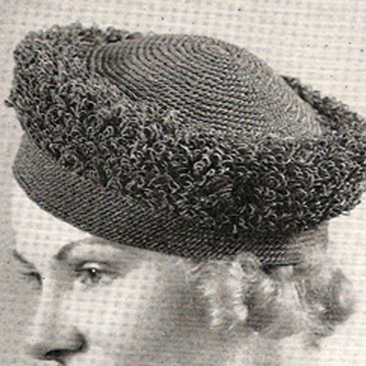 Vintage Crochet Looped Turban Hat Pattern