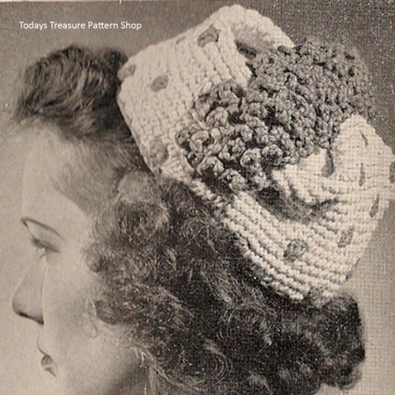 Vintage Polka Dot Pillbox Crochet Pattern with Flower band