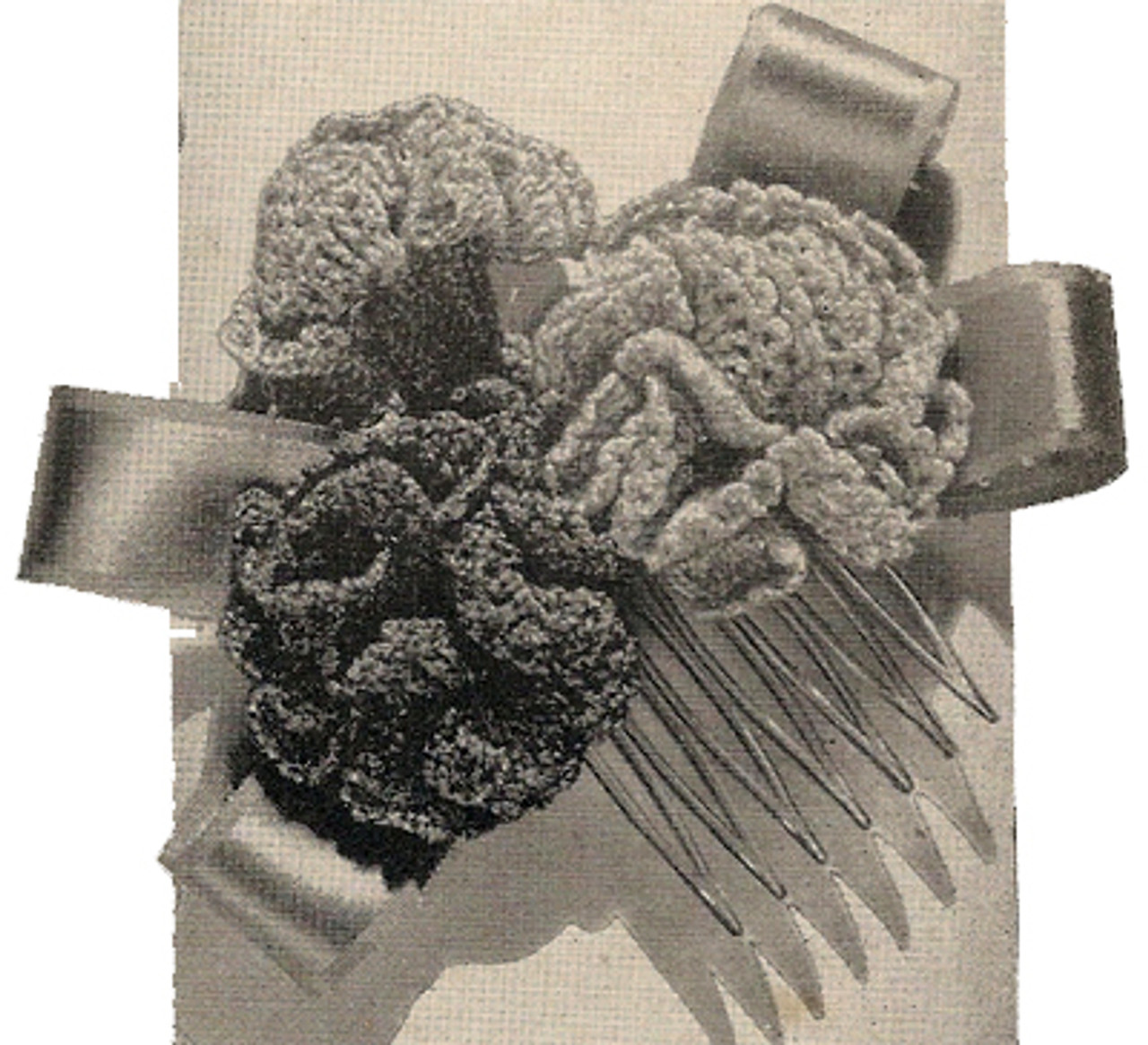 Vintage Crochet Hair Accessories
