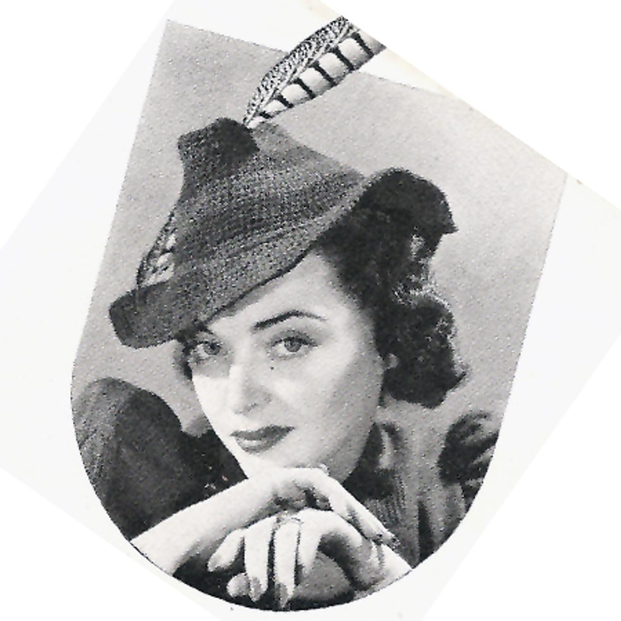 Crocheted Couquett Hat Pattern