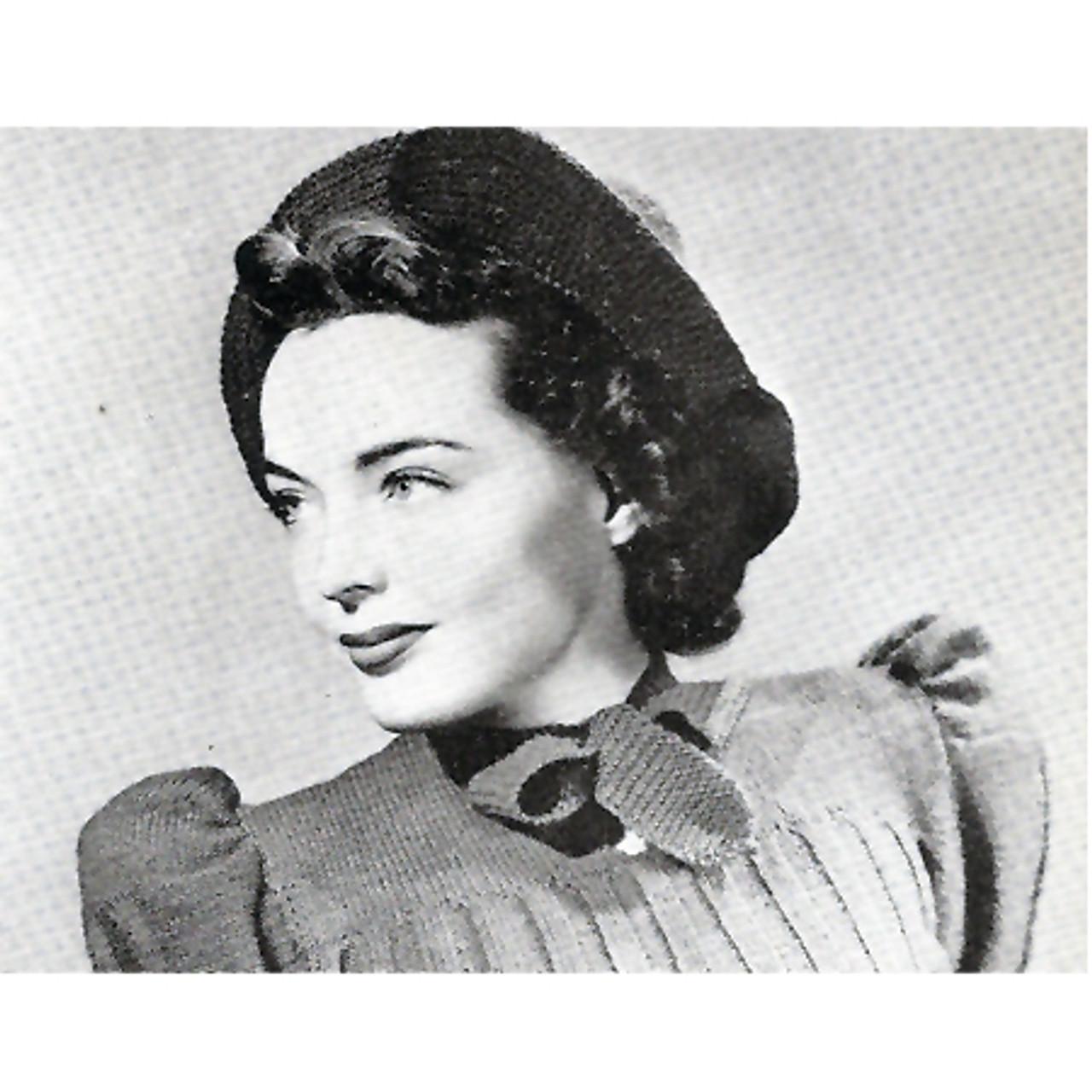 Vintage crocheted bonnet pattern