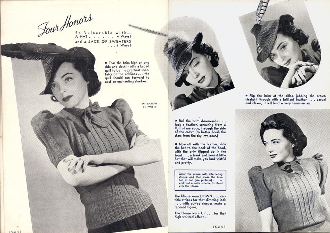 Crochet 1940's Hat Pattern