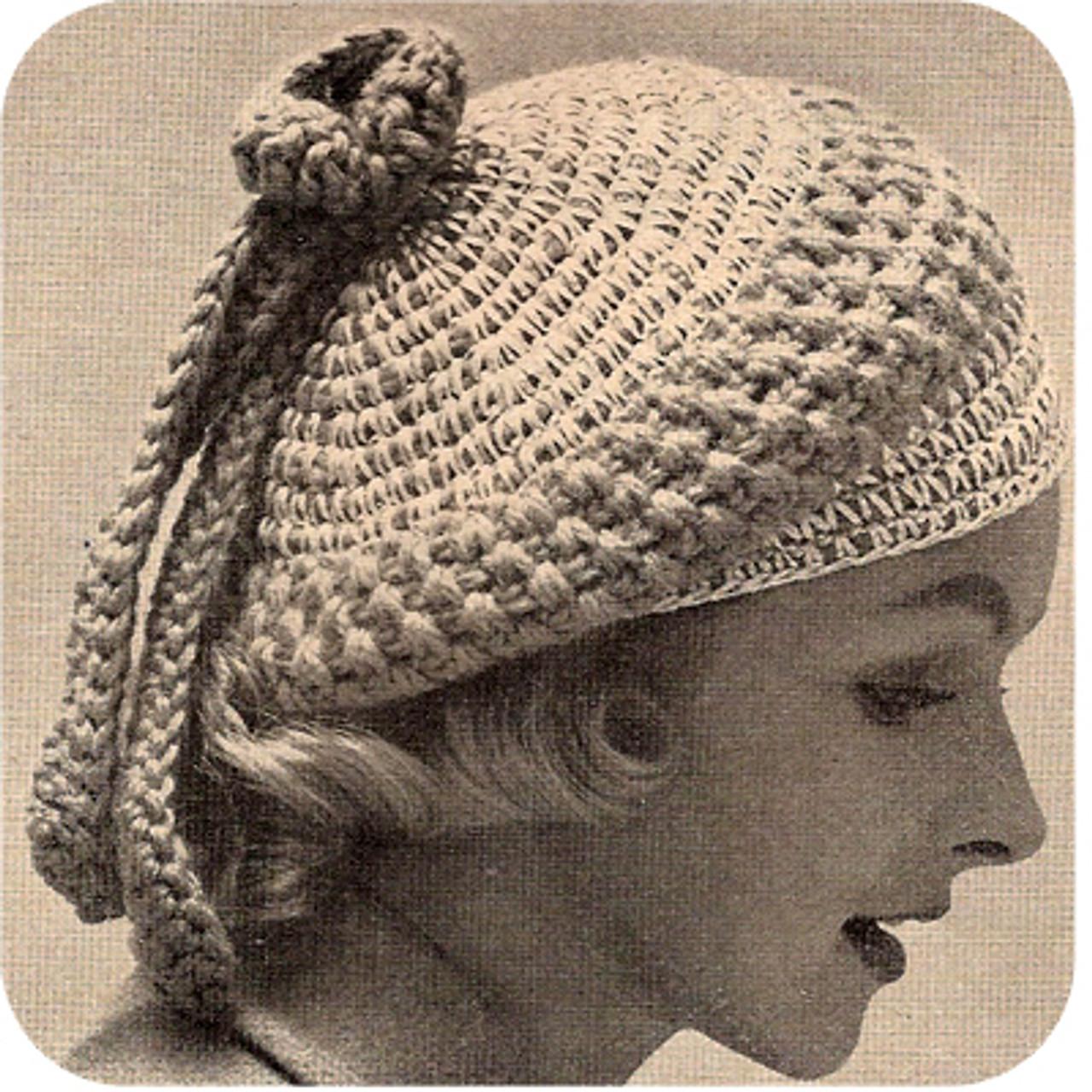 Vintage Crochet Sailor Boy Beret Pattern