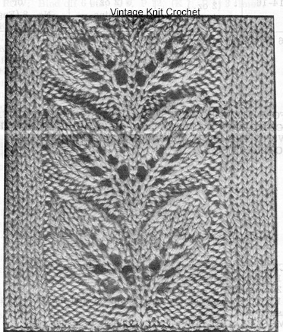 Leaf Motif Knitted Illustration
