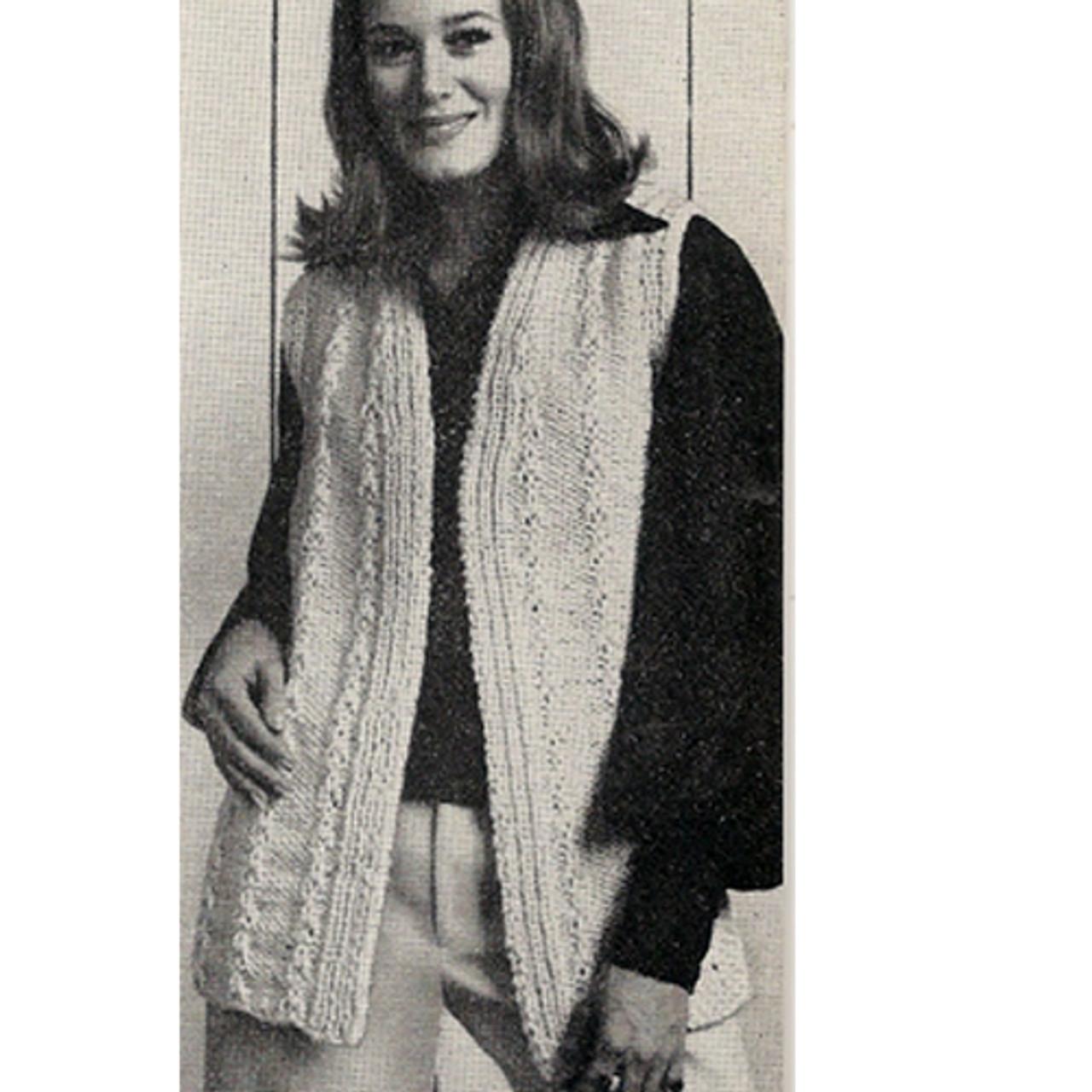 Long Knitted Vest Pattern