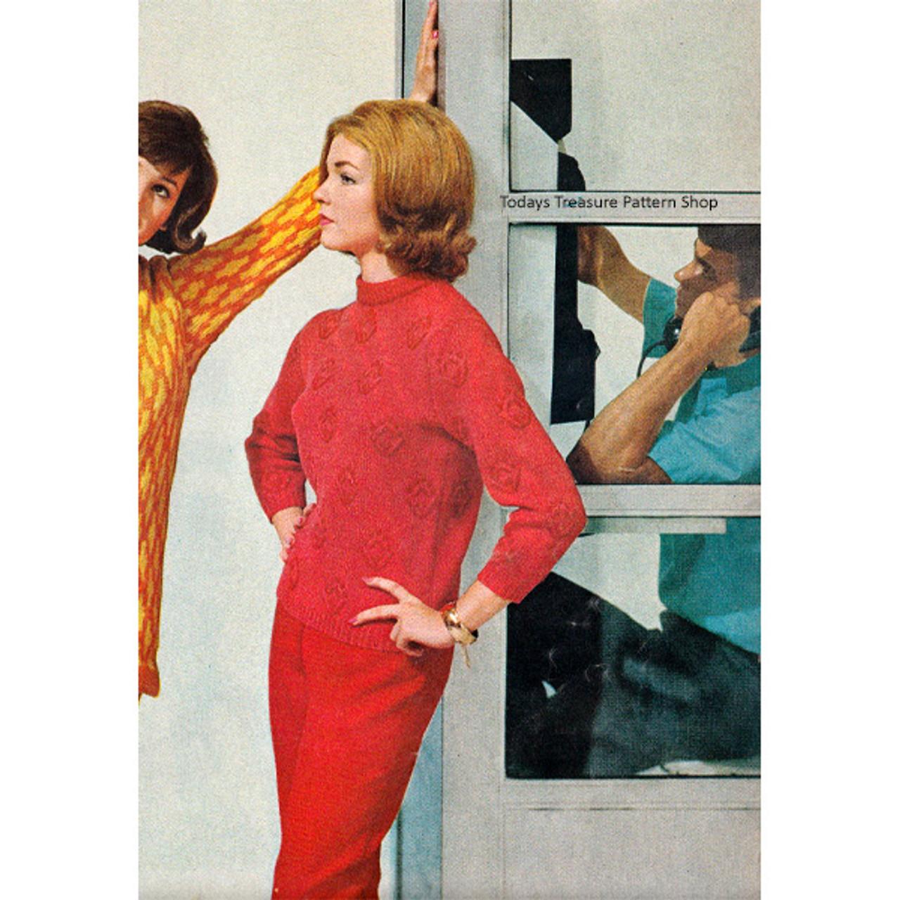 Long Sleeve Knitted Slipover Pattern