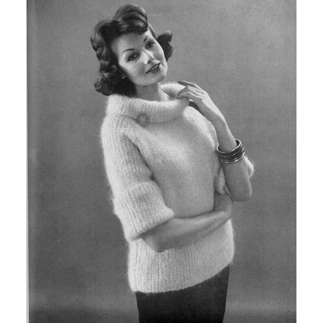 Knitting Pattern Mohair Pullover Sweater