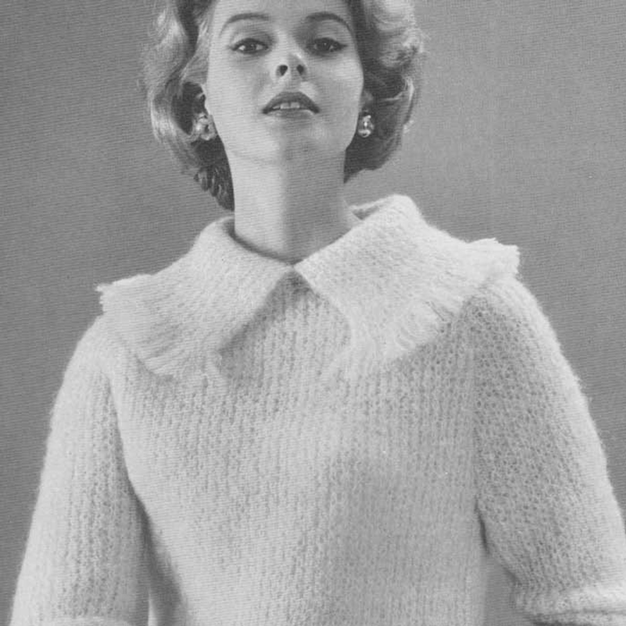 Vintage Knitting Pattern Pullover