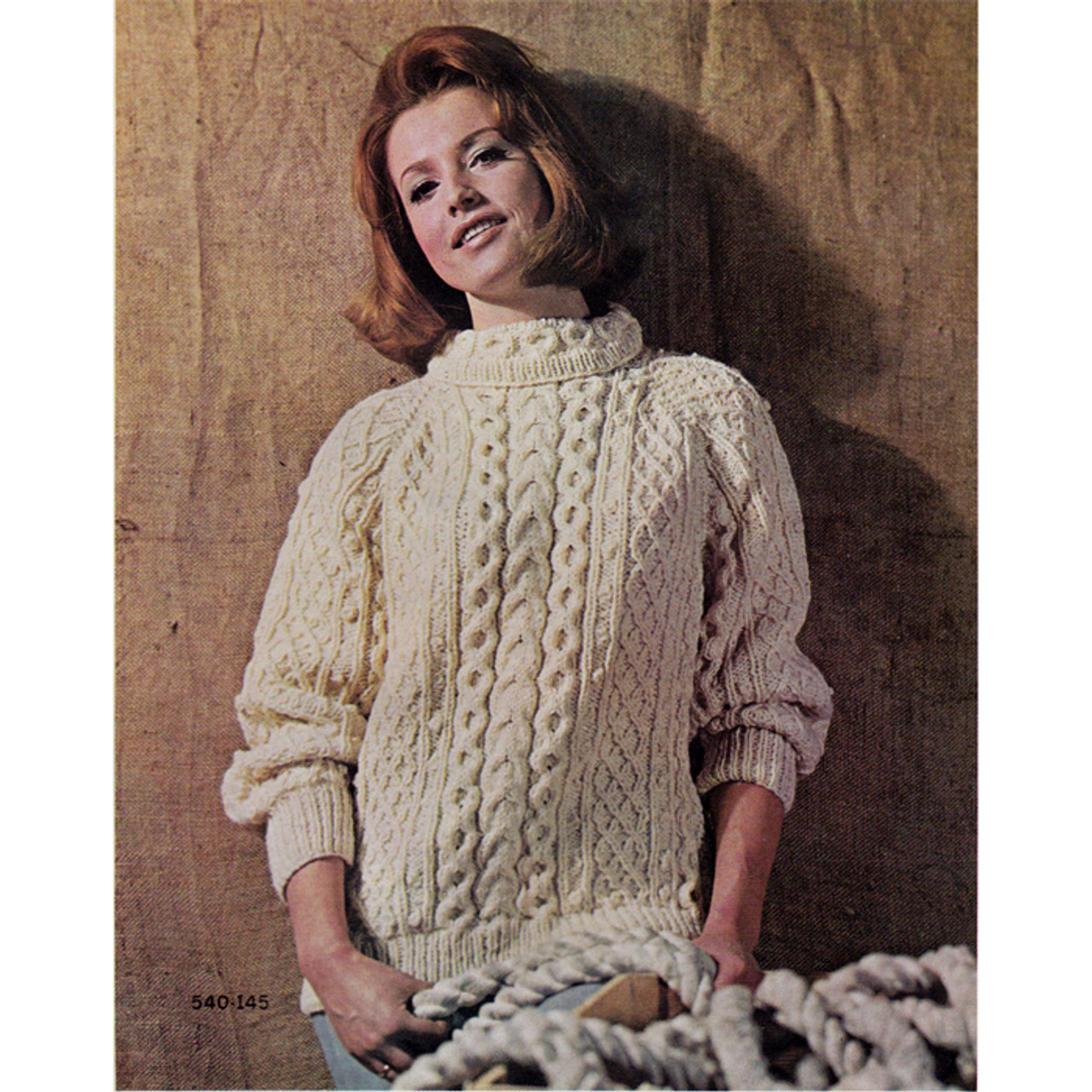 Knitting Pattern Cable Stripe Pullover
