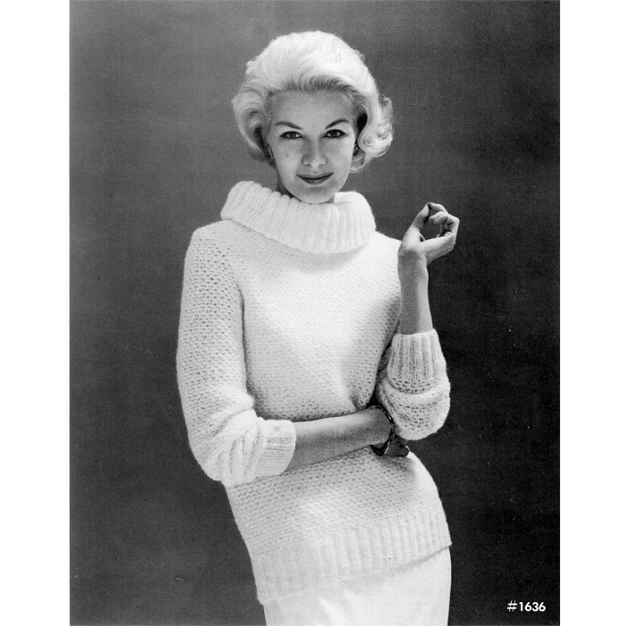 Cowl Neck Knitted Sweater Pattern