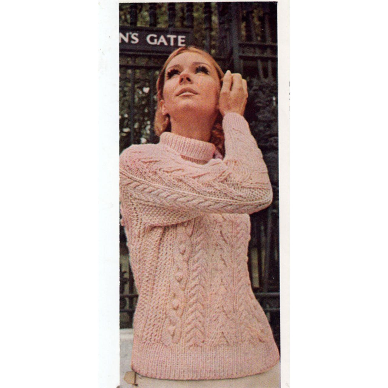 Dawn Sayelle Knitted Aran Sweater Pattern