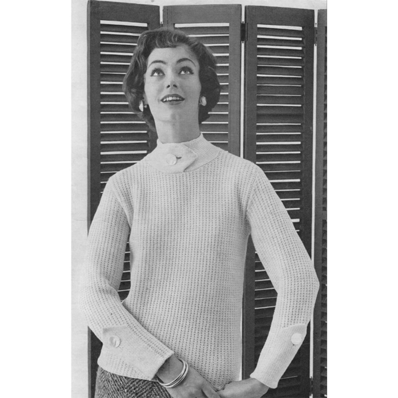Spinnerin Mona Yarn Knitted Pullover Pattern