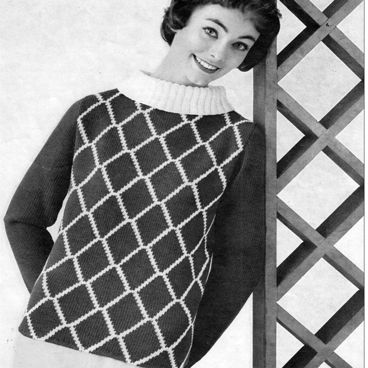 Knitted Spinnerin Mona Sweater Pattern
