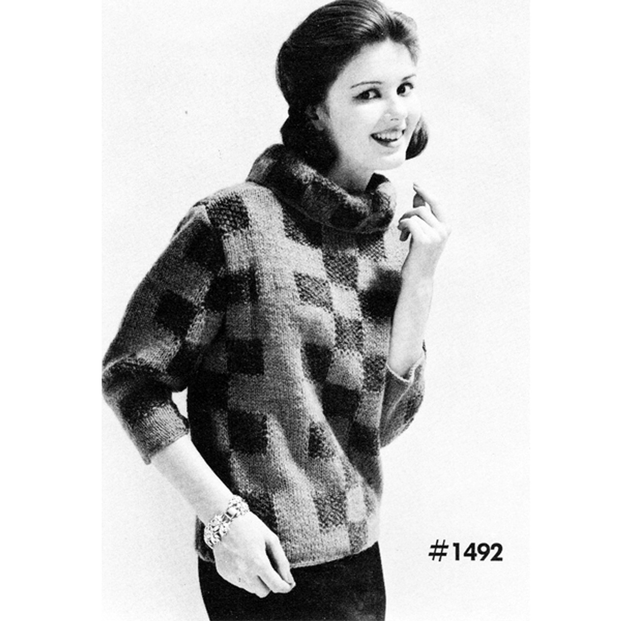 Les Bouquets Yarn Pullover Knitting Pattern