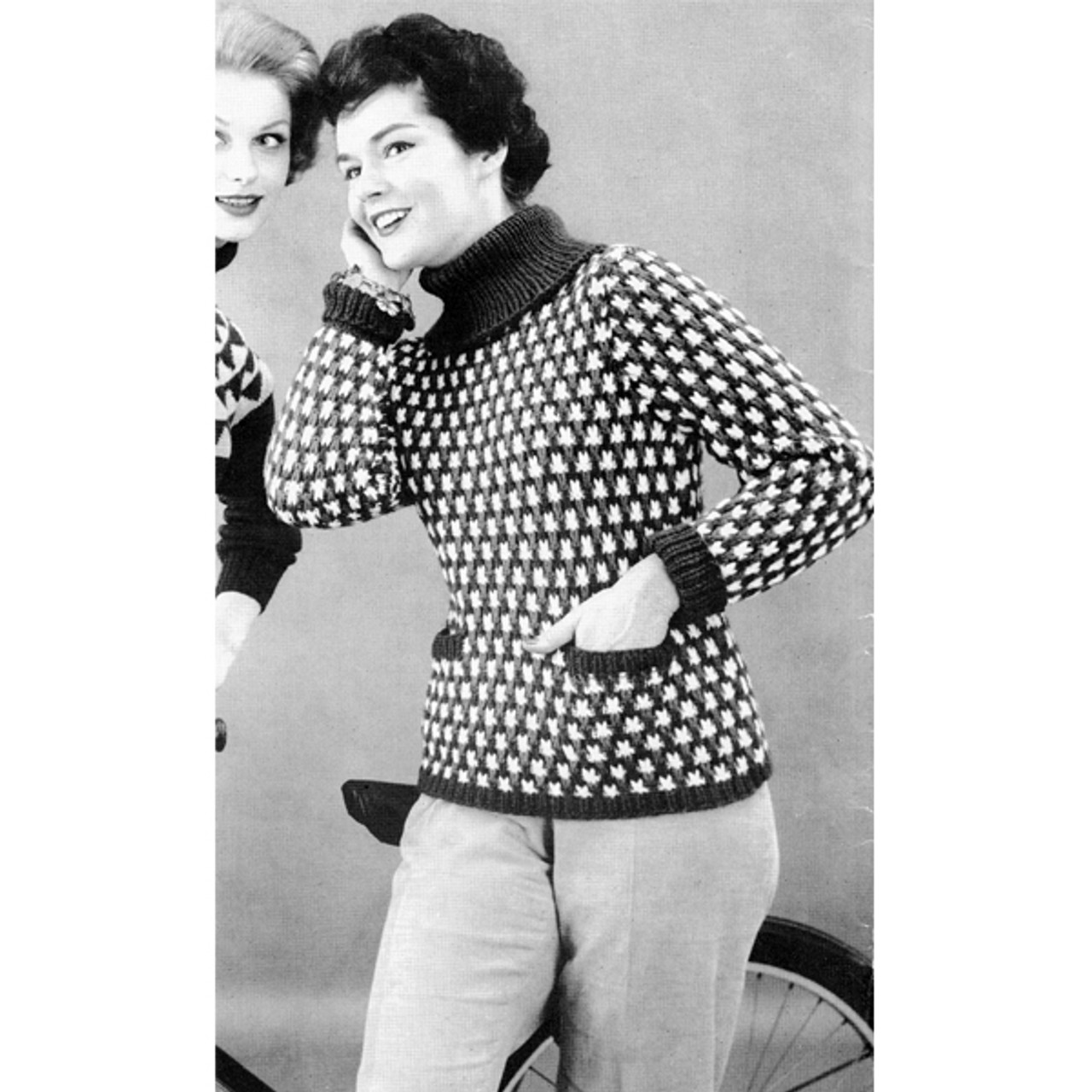 Knitting Pattern Polka Dot Sweater