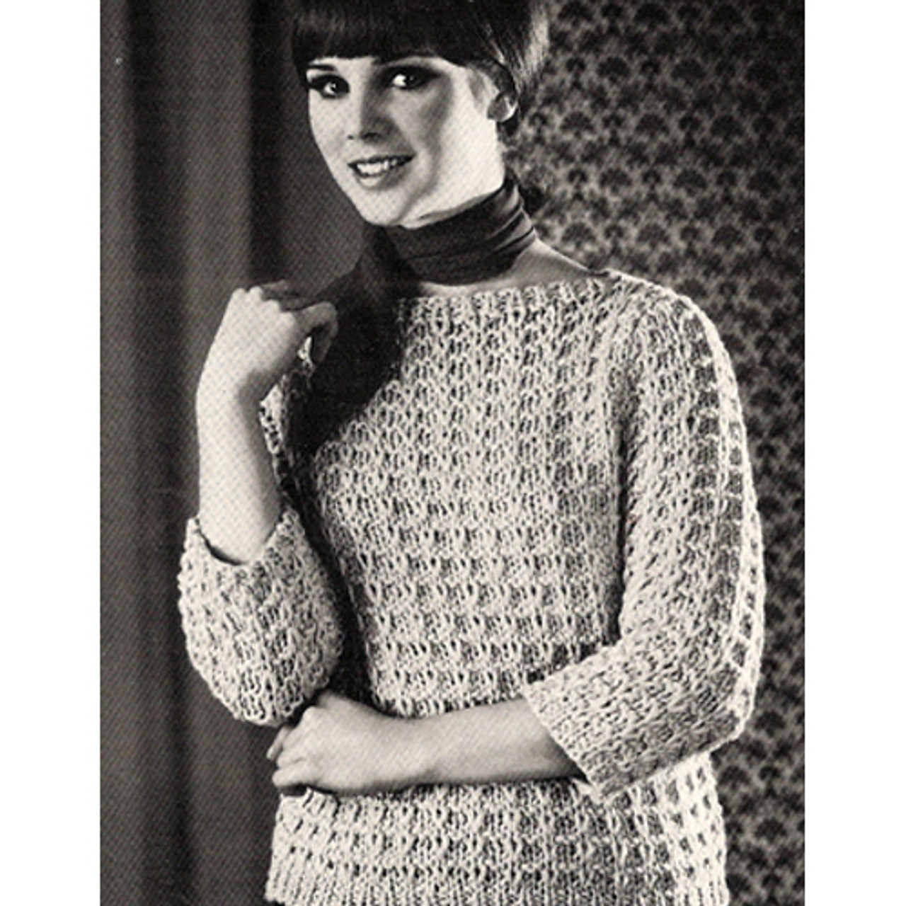 Knitted Pullover Pattern in Slip Stitch