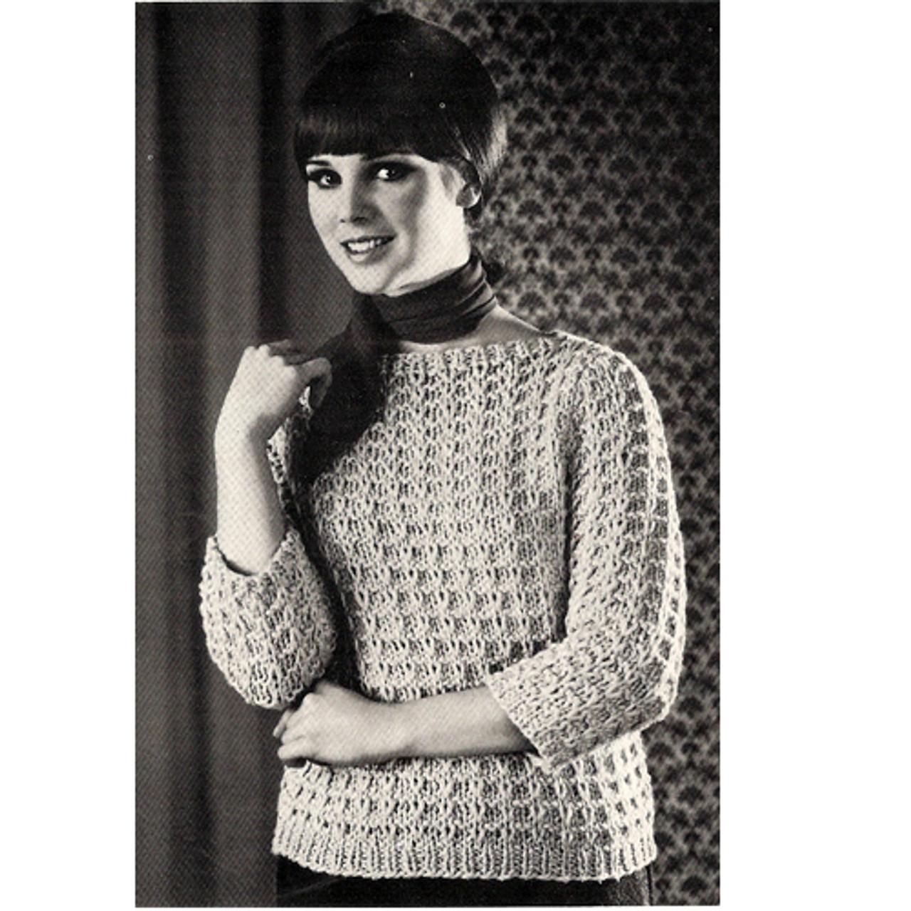Knitting Pattern Easy Slip Stitch Pullover