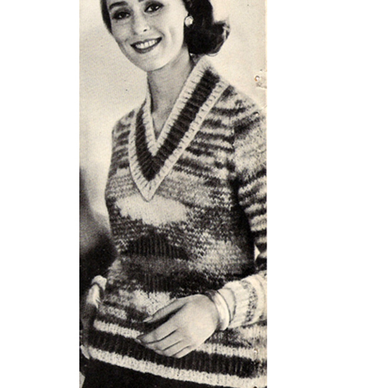 Candy Icicle Knitted Pullover Sweater Pattern