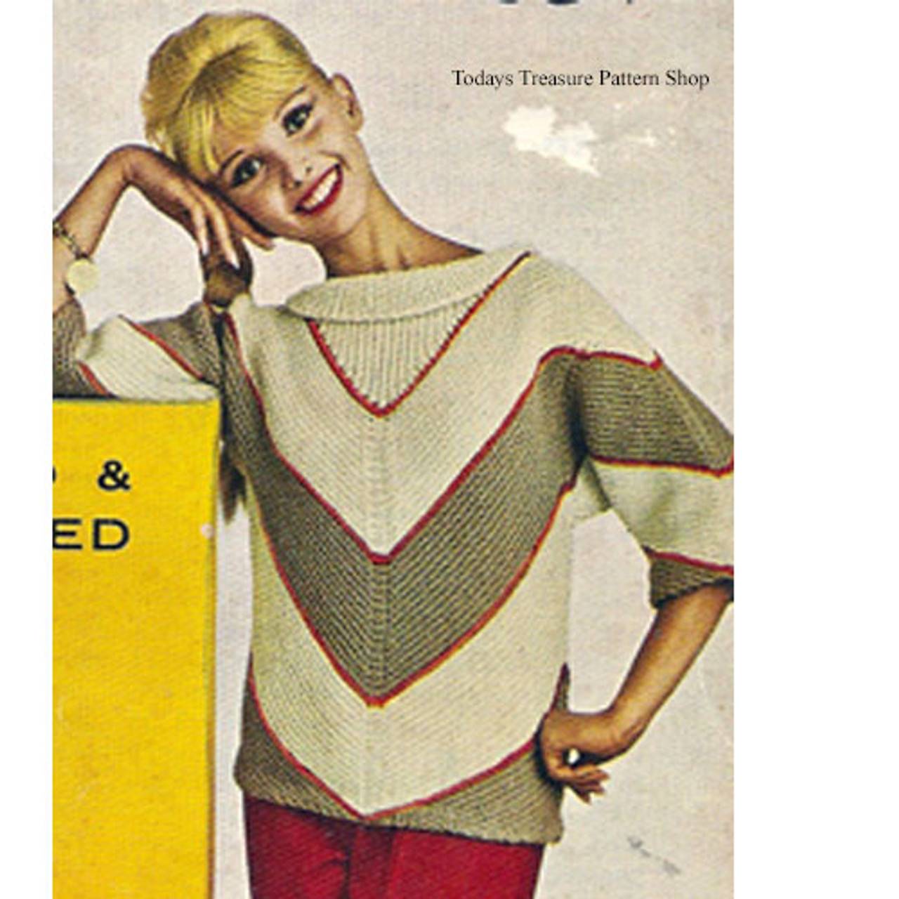 Knitting pattern for Chevron Pullover Pattern