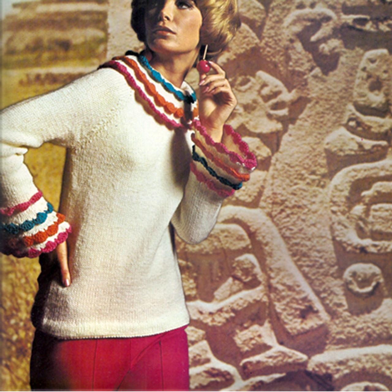 Knitting Pattern, Raglan Sweater in Nantuk Worsted