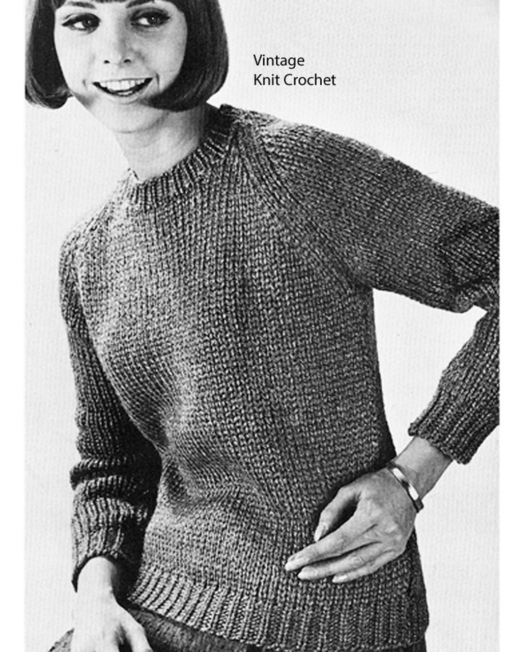 Beginners Knitted Pullover Pattern