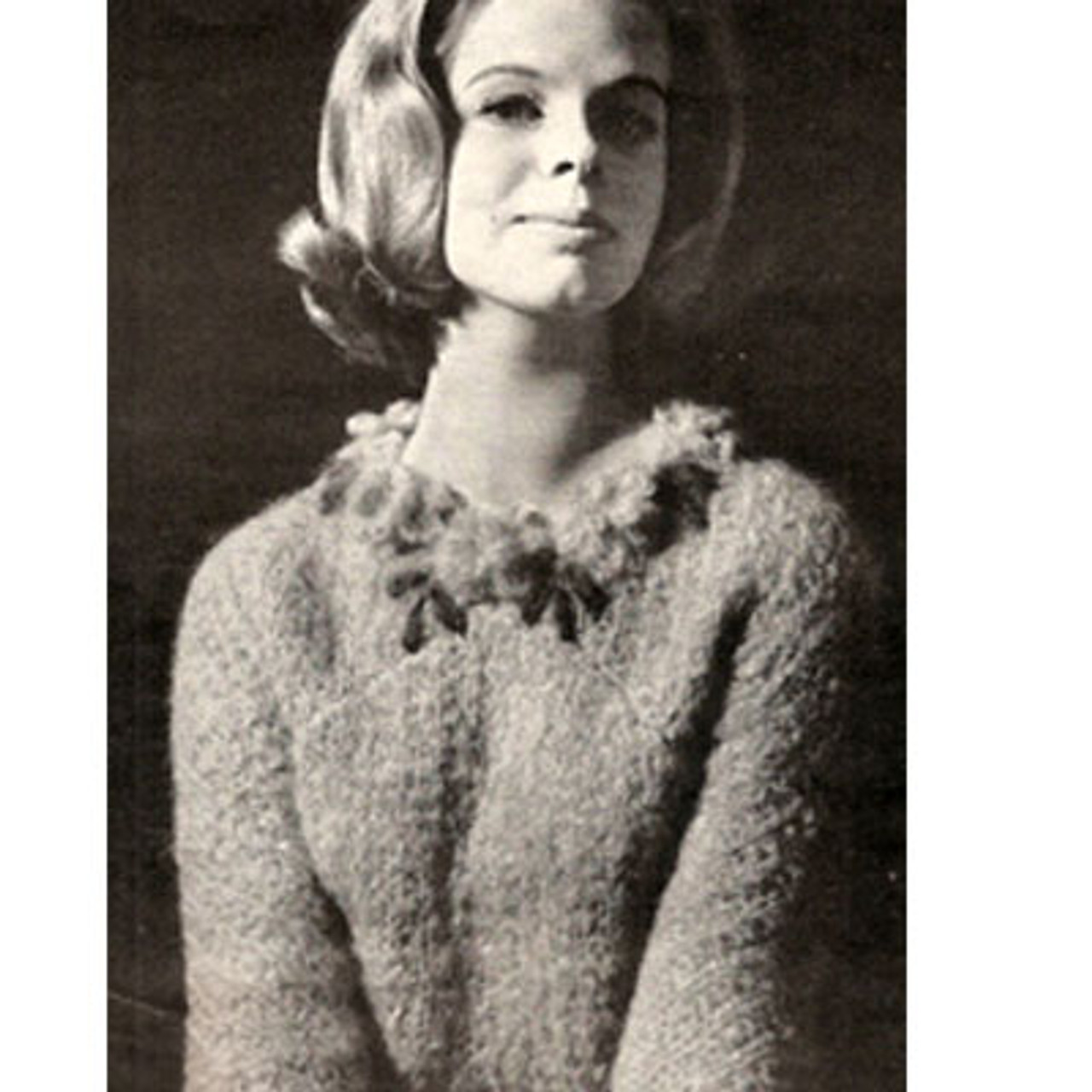 Vintage Mohair Pullover Knitting Pattern