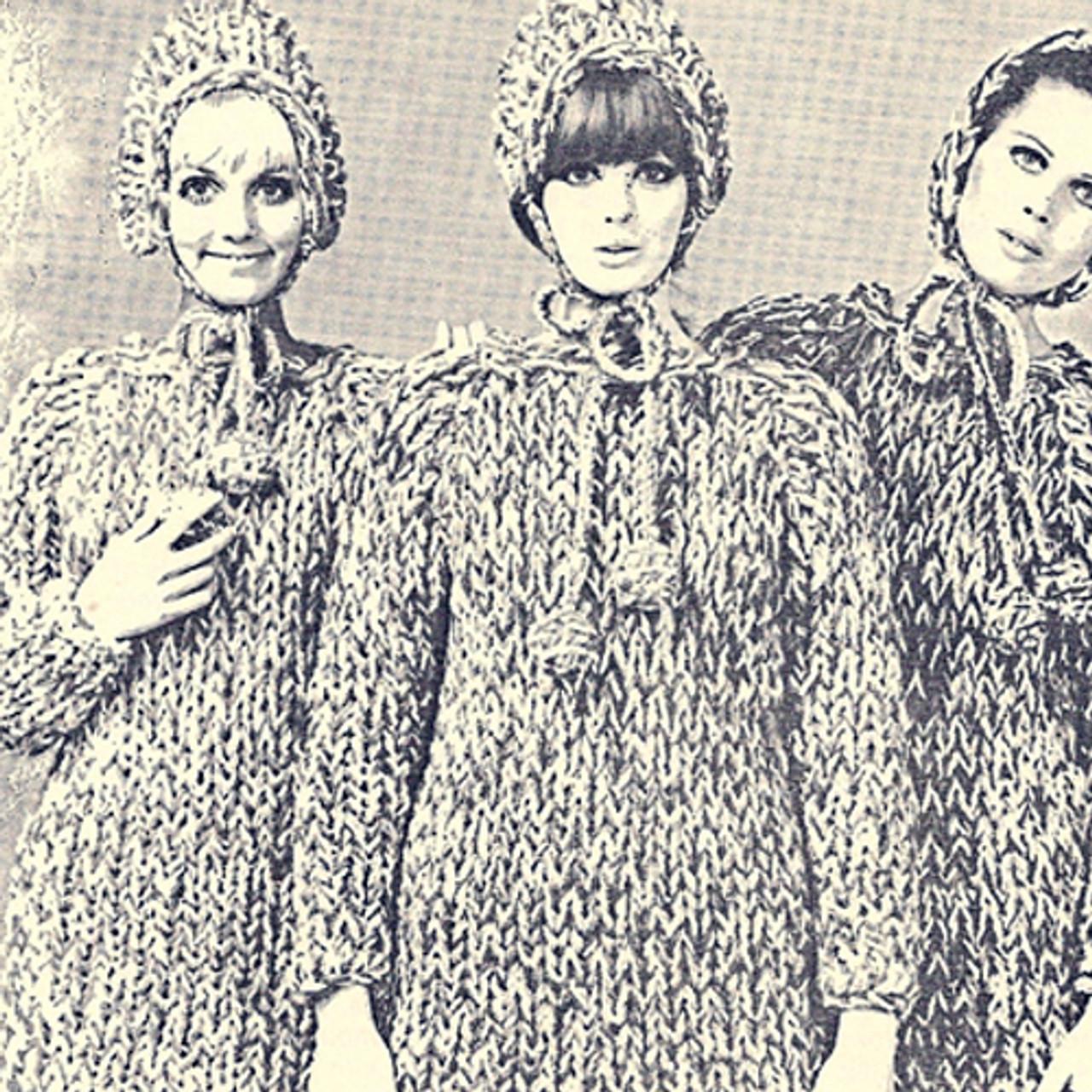 Hooded Pullover Knitting Pattern, Big Needles