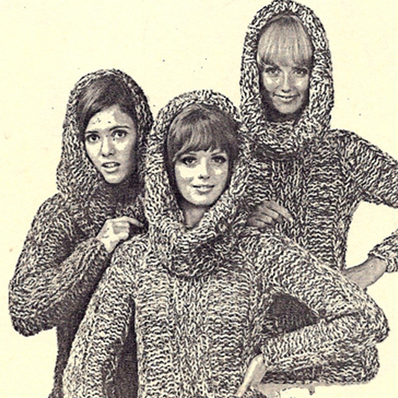 Hooded Ribbed Sweater, Big Needle Knitting pattern