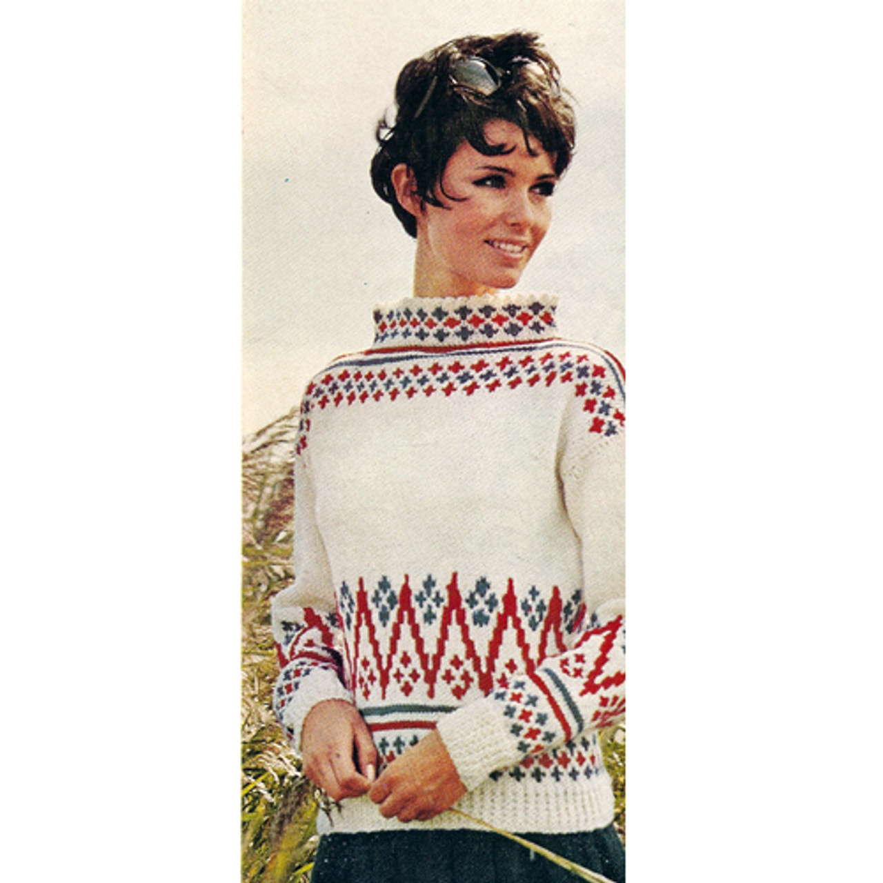 Patterned Sea Breeze Knitted Sweater Pattern in