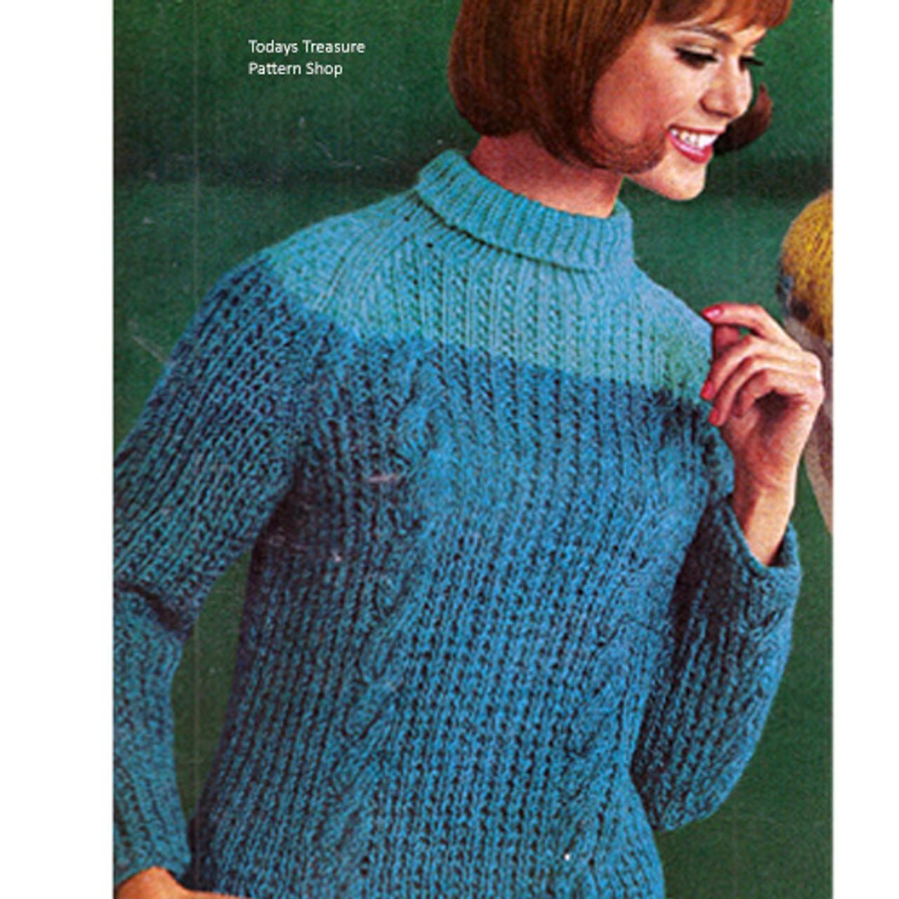 Spinnerin Alpine Knitted Sweater Pattern