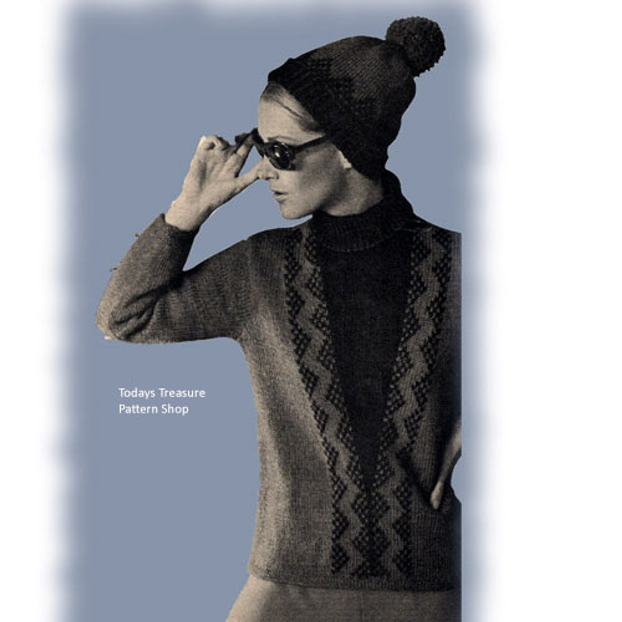 Ski Pullover and Hat Knitting Pattern