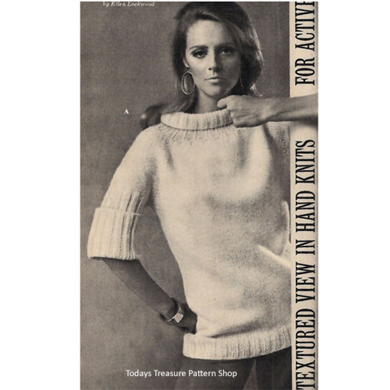 Elbow Length Ribbed Pullover Knitting Pattern