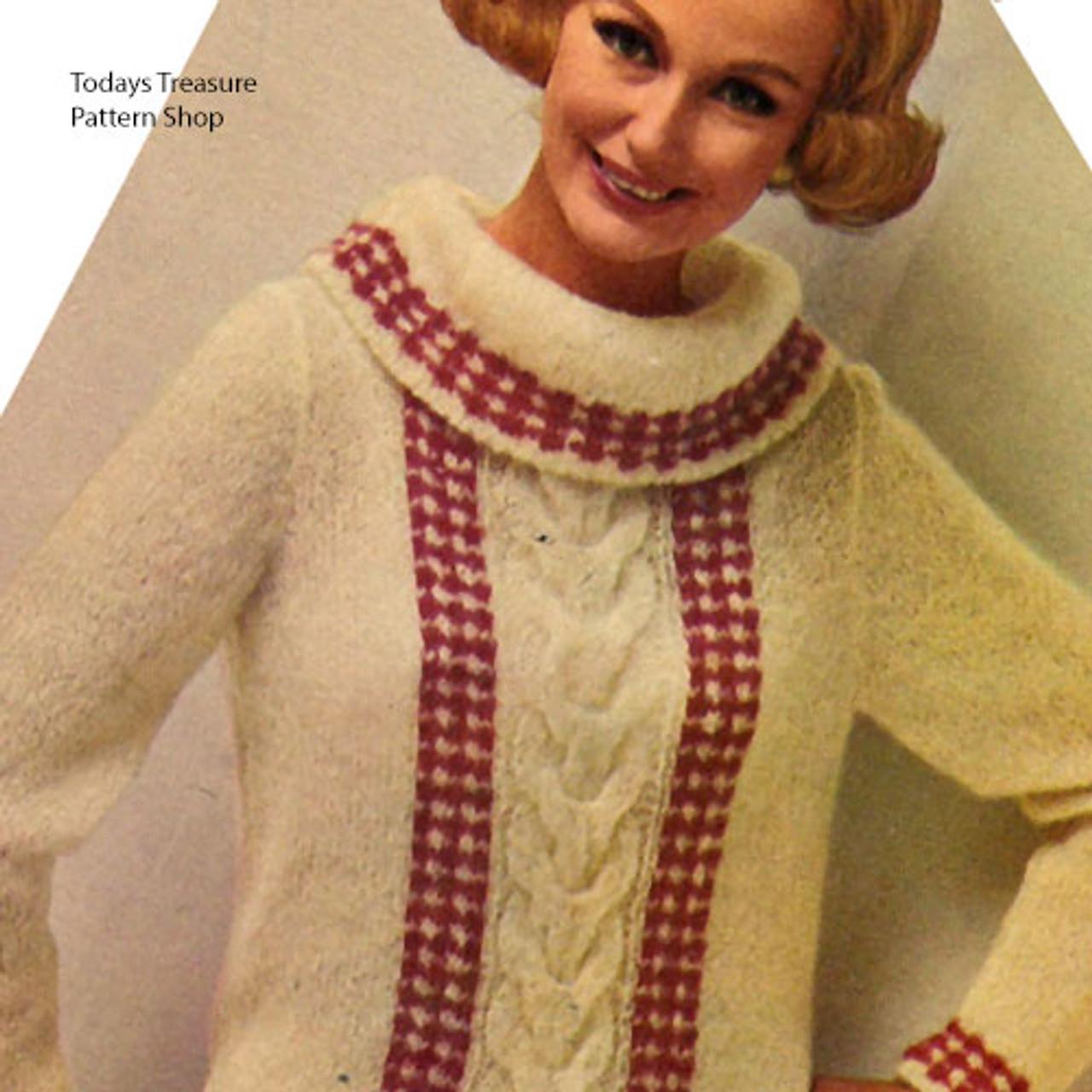 Vintage Pullover in Reynolds Mohair Yarn