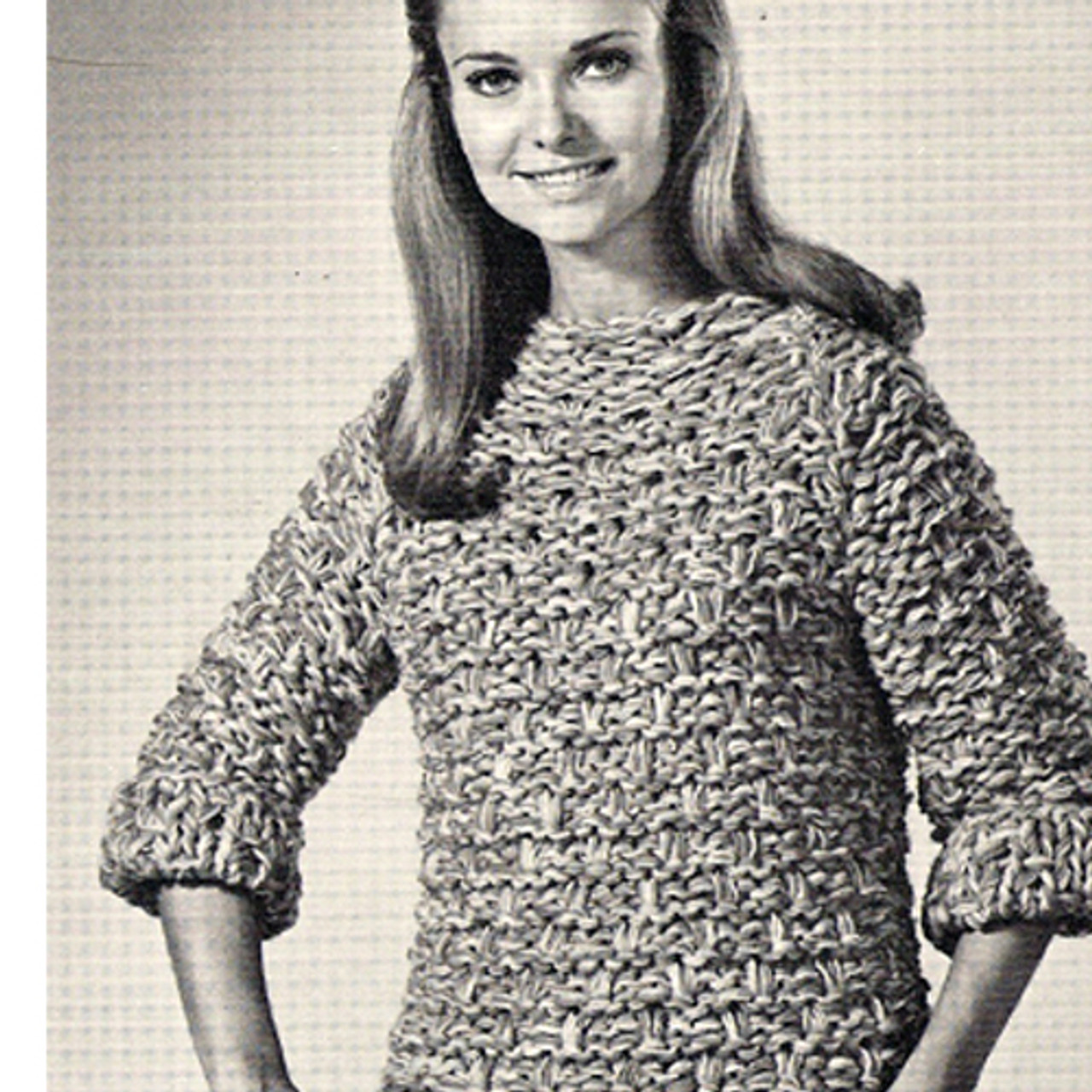 Knitted Sweater Pattern on Big Needles