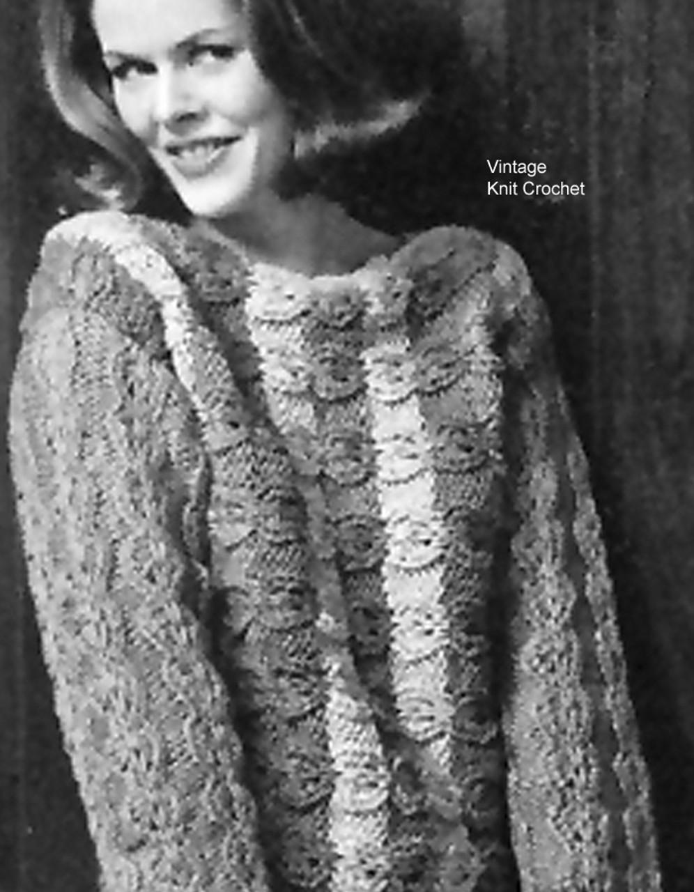 Textured Tunic Knitting Pattern