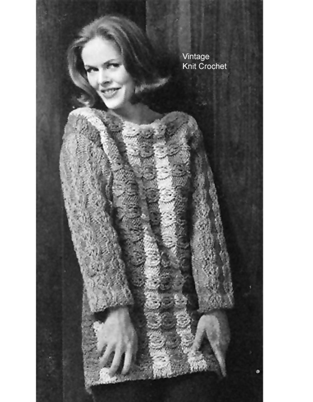 Knitted bulky tunic pattern