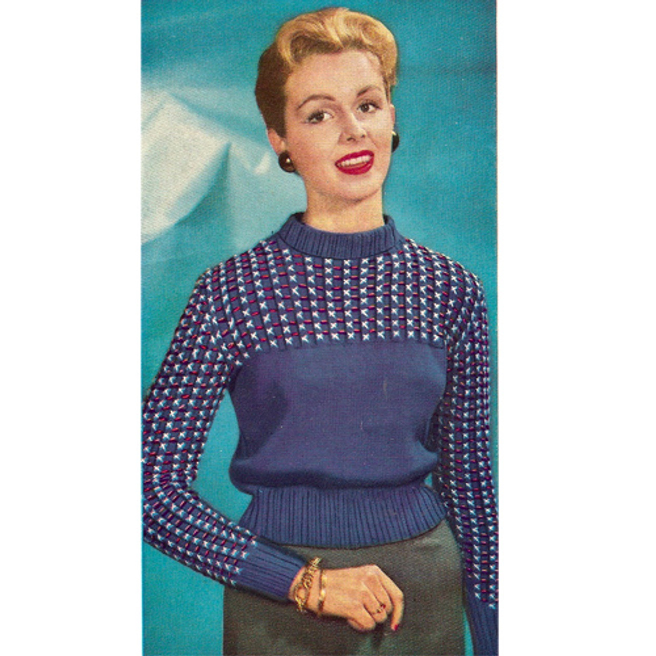 Vintage Raglan Sleeve Sports Pullover Knitting pattern