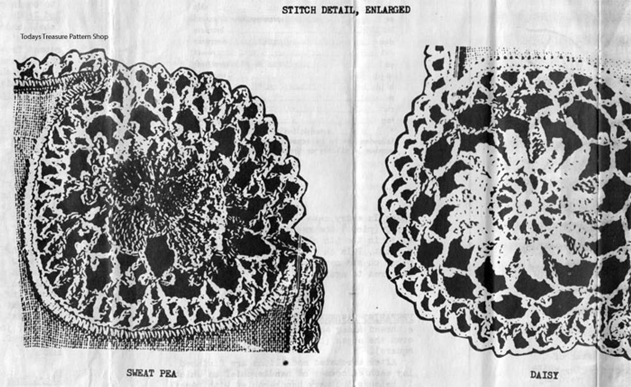 Crocheted Flower Corners Pattern