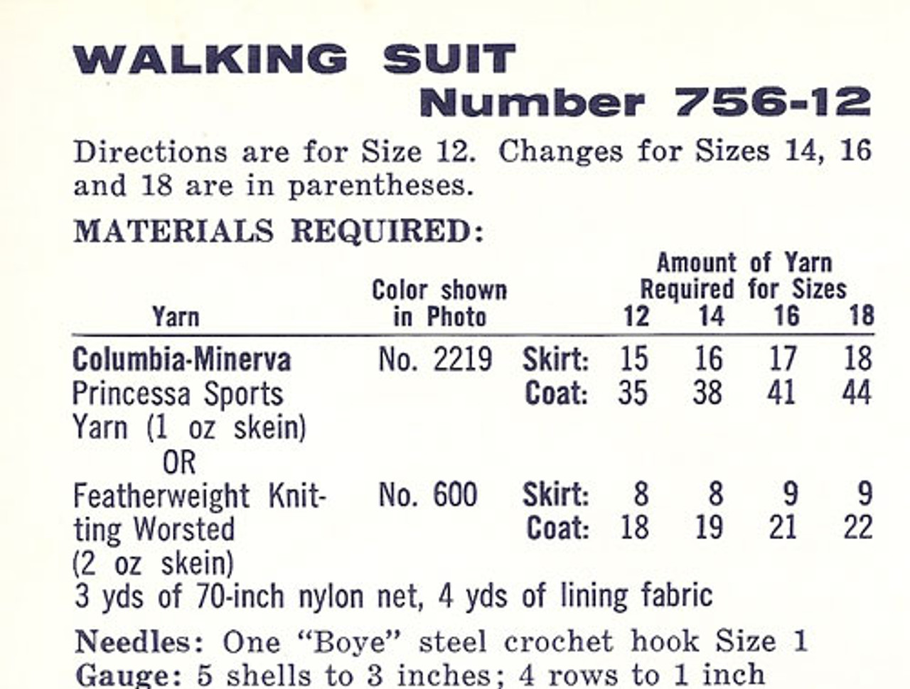 Walking Suit Material and Size Requirements