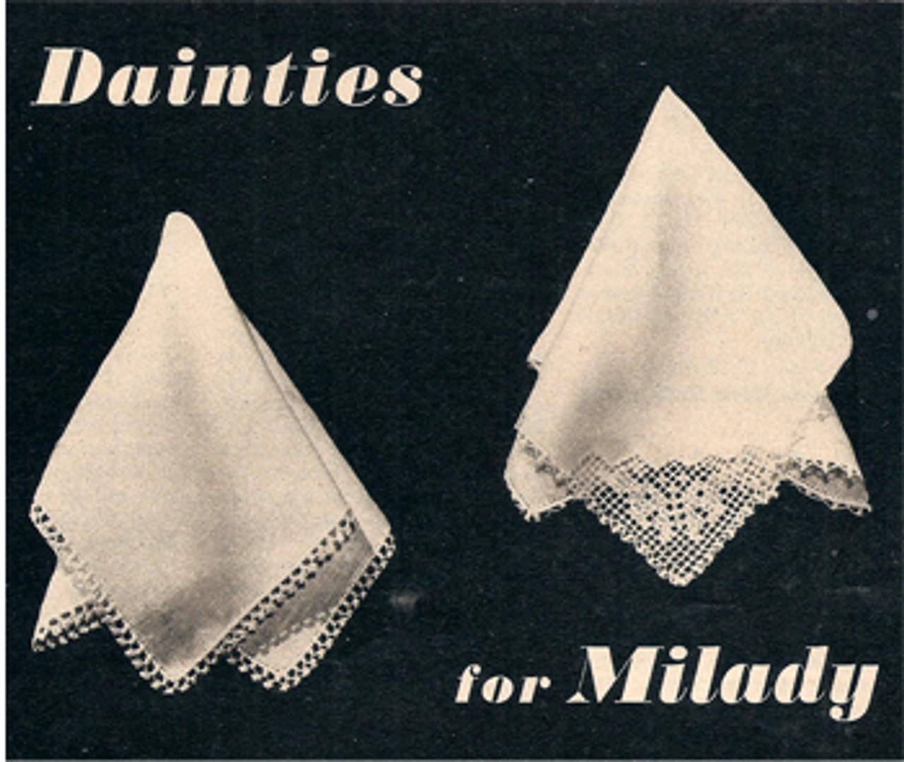 Free Crochet Picot Handkerchief Edging Pattern